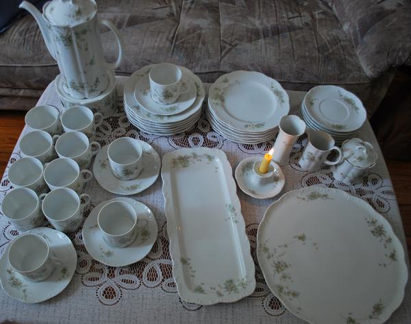 rosenthal kaffeeservice gr ne ranke 0014 in hamburg. Black Bedroom Furniture Sets. Home Design Ideas