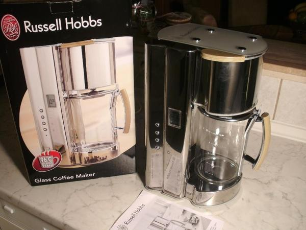russell hobbs glass line kaffeemaschine design edel glas in rehe kaffee espressomaschinen. Black Bedroom Furniture Sets. Home Design Ideas