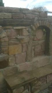 Sandsteinmauer,Pflastern,gärten