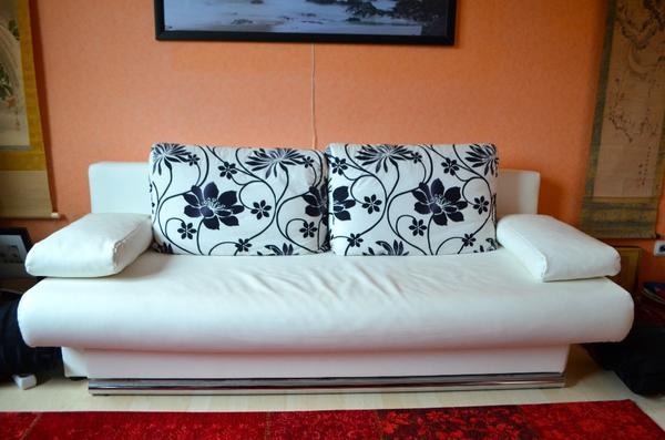 knapp 3 jahre alt schlafcouch sofa wurde als g stebett verwendet ma e sofa h cm x t. Black Bedroom Furniture Sets. Home Design Ideas