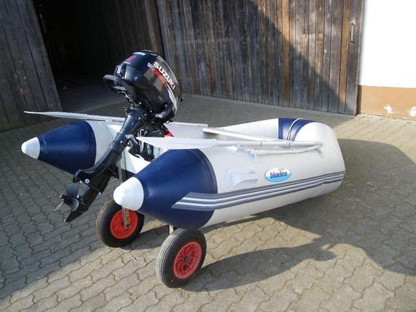 schlauchboot mit motor 5 ps in denkendorf motorboote kaufen und verkaufen ber private. Black Bedroom Furniture Sets. Home Design Ideas