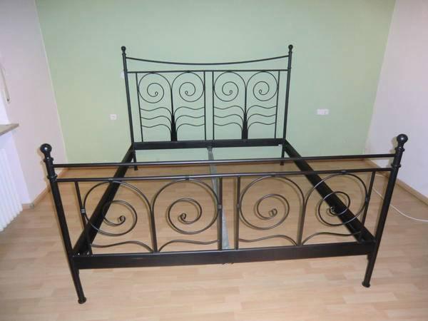 sch nes ikea noresund bett schwarz in stuttgart betten. Black Bedroom Furniture Sets. Home Design Ideas