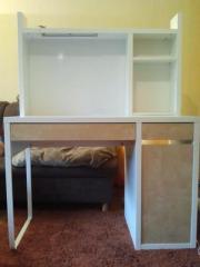 Schreibtisch weiß/buche