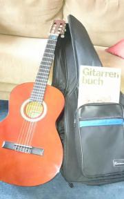 Schulgitarre mit Tasche,