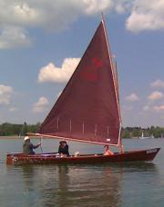 Segelboot, Holz ,Chiemsee