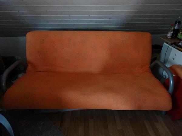 sofa klappsofa 1 80m lang x 1 40m liegefl che in m hlhausen schlafsofas kaufen und verkaufen. Black Bedroom Furniture Sets. Home Design Ideas