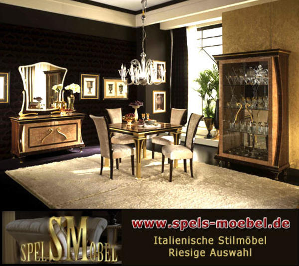 wohnzimmer rossini italienische klassische stilm bel furnier blattgold in hamburg sonstige. Black Bedroom Furniture Sets. Home Design Ideas
