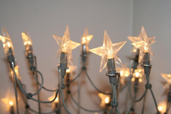 Sterne lichterkette neu blumen balkon deko vasen deko for Dekoartikel balkon