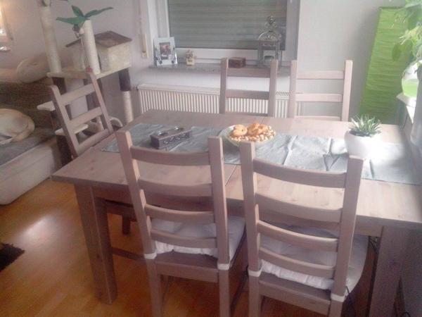 storn s kaustby tisch und 6 st hle np 593 00 in calw ikea m bel kaufen und verkaufen ber. Black Bedroom Furniture Sets. Home Design Ideas
