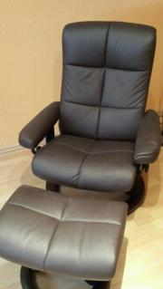 stressless fernsehsessel leder in gutem zustand mit fu hocker in h nxe polster sessel couch. Black Bedroom Furniture Sets. Home Design Ideas