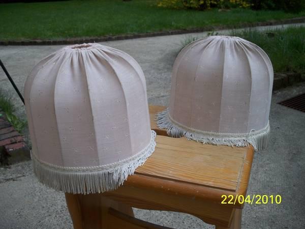 Lampen super 2 zwei lampenschirme f r nachttisch lampen for Nachttisch lampenschirme