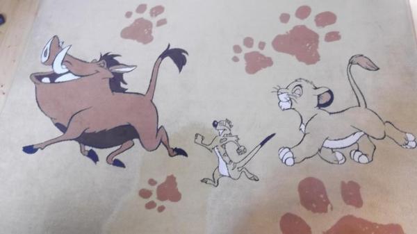 Teppich von Disneys Der König der Löwen in Dachau