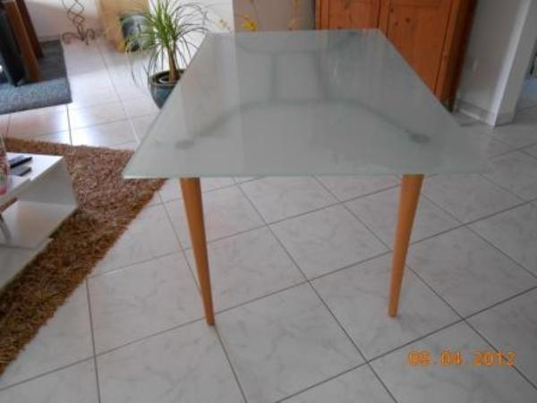 Tisch esstisch milchglas in amberg speisezimmer for Esstisch milchglas