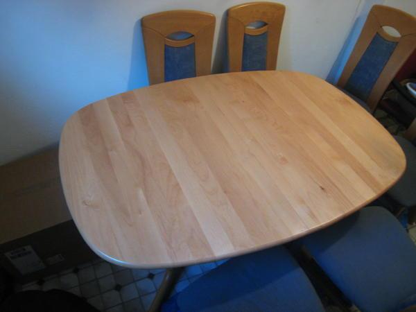 tischgruppe mit 6 st hlen zu verkaufen in limburg. Black Bedroom Furniture Sets. Home Design Ideas