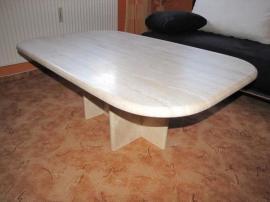 Die Hochwertigen Tischplatten Werden Handwerklich Gefertigt Aus Travertin Natrliche Oberflche Bezaubert Durch Seine Unregelmssige Ob