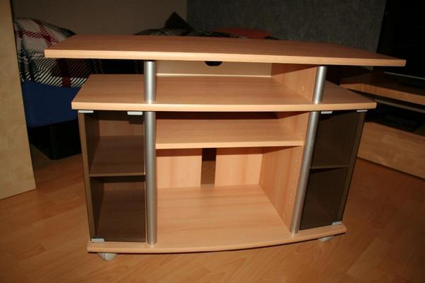 tv tisch buche in bad sch nborn phono tv videom bel. Black Bedroom Furniture Sets. Home Design Ideas