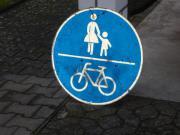 Verkehrsschild Radweg/Fußweg