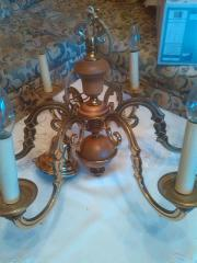 Vollmessing Kerzenluster