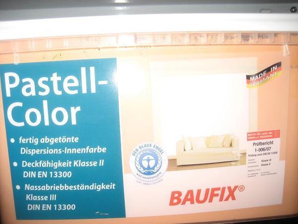 Wandfarbe baufix pastell color terracotta 5 l original v 2 x in hollfeld farben lacke - Wandfarbe terracotta ...