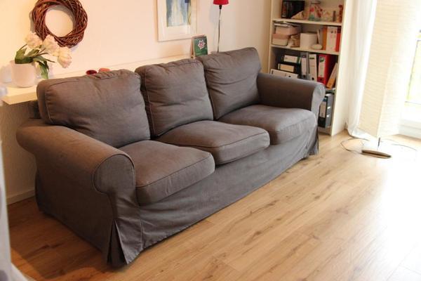 wie neu ektorp 3er sofa nordvalla grau in ubstadt weiher polster sessel couch kaufen und. Black Bedroom Furniture Sets. Home Design Ideas