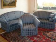 wunderschöne blaue Sofa-