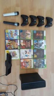 Xbox 360 slim + Kinect + 4 Controller + 2 Micro und viel Spiele gebraucht kaufen  Karlsruhe Südweststadt