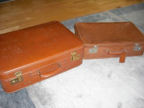 zwei alte lederkoffer in edingen neckarhausen taschen. Black Bedroom Furniture Sets. Home Design Ideas