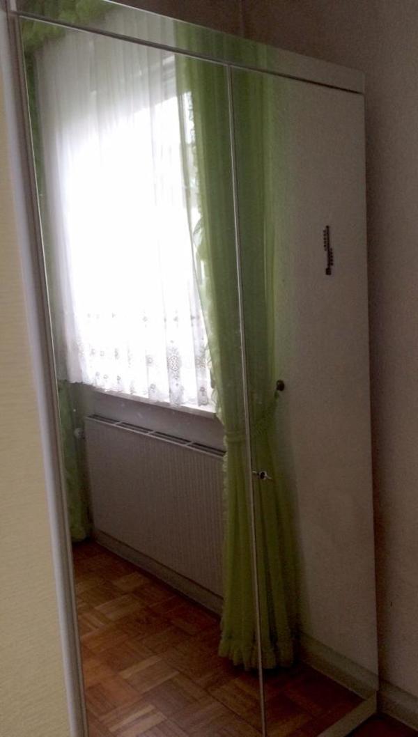 zweitüriger Spiegelschrank 2m x 1m x 55cm für Garderobe / Flur