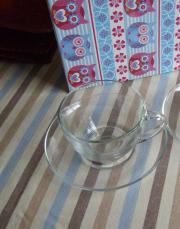 1 Tasse - 2 Teller - Teetasse