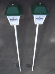 2 x Außenlampe Bischoff - Biergarten Lampe