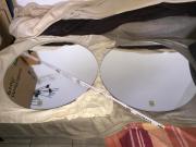 2x runde Spiegel Durchmesser 70cm