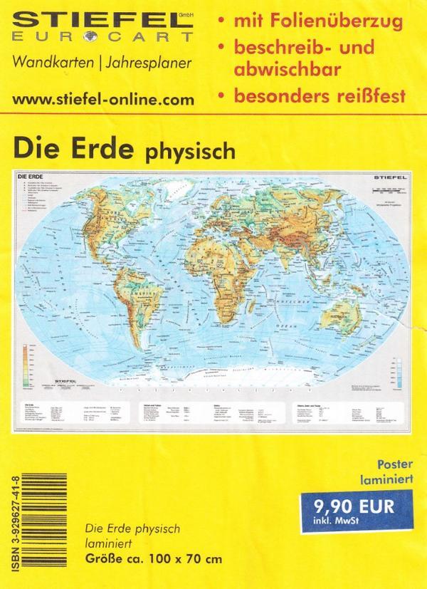 3 hochwertige Wandkarten Welt-Europa-Deutschland in