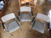 3 Retro-Bürostühle
