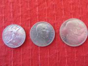 3 Silbermünzen Republika Ceskoslovenska 50