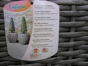 3 Übertöpfe Pflanzenkübel Töpfe