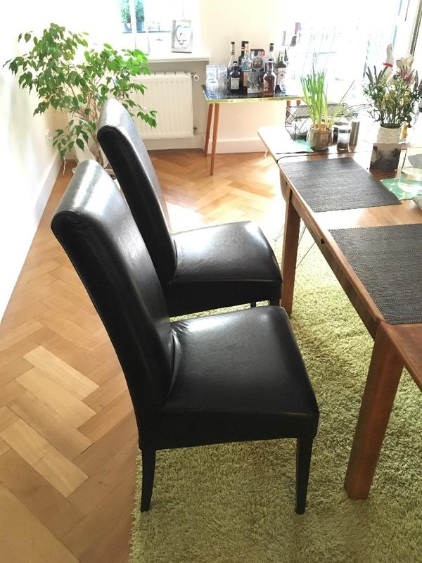 schwarz esszimmer stühle satz von 4 | möbelideen, Esszimmer dekoo