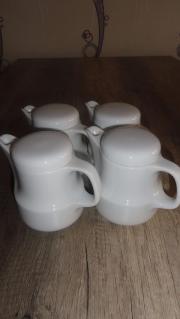 4 Kaffeekännchen für