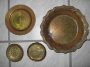 4 Messingschalen / Teller