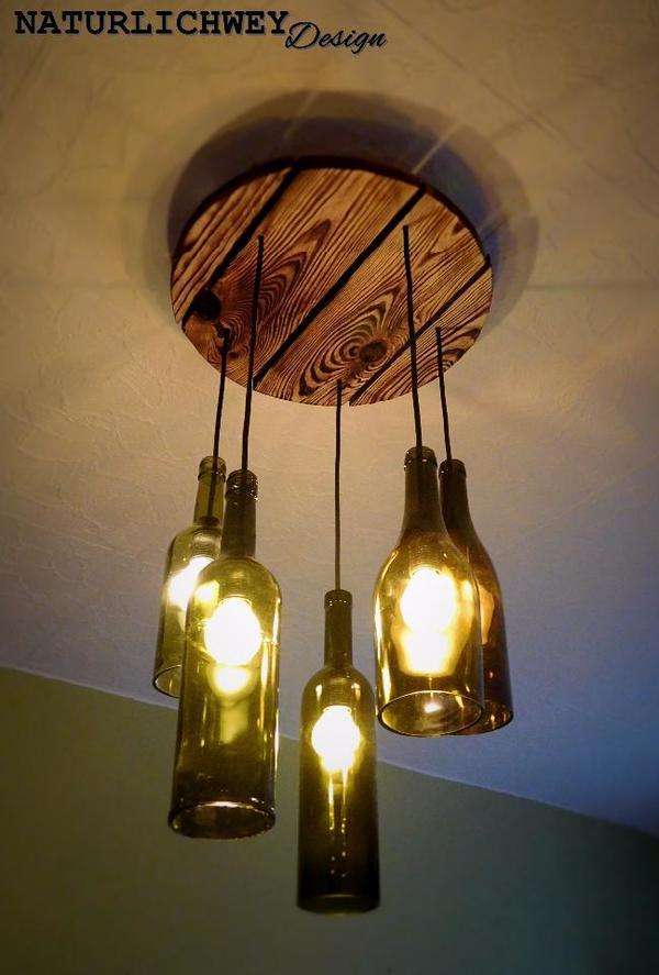 5er weinflaschen, rustikaler teller in reichshof - lampen kaufen ...