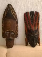 Afrikanische Holzmasken