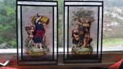 Alte Bleiglasbilder
