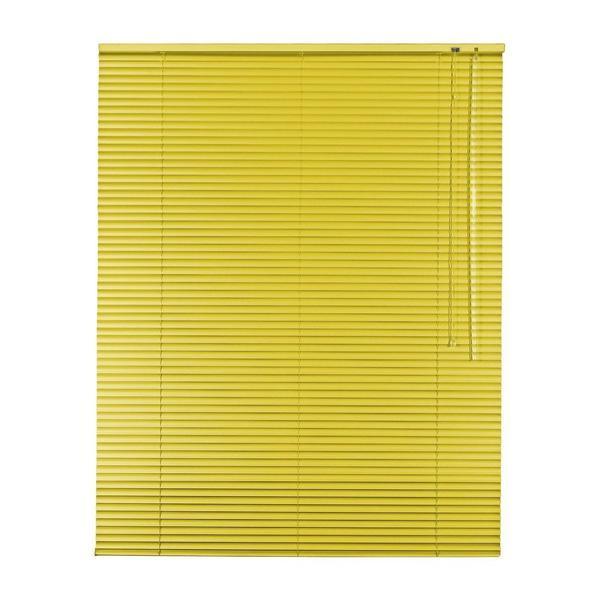 Alu   Aluminium Jalousie 25 mm Lamellen , 85 x 120 cm, Farbe gelb