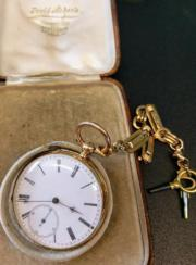 Anrike Taschenuhr, Gold