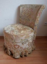 antik Sessel Brokat