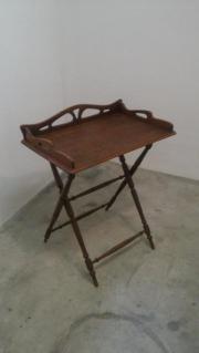 antikes Tablett-Tischchen