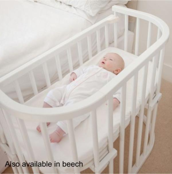 Babybay Beistellbett Baby Bettchen Weiss Buchenholz Wie