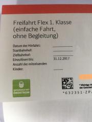 Bahn Freifahrt Flex
