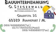 BAUUNTERNEHMUNG OLAF STEGERWALD