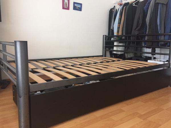 metall bett matratze gebraucht kaufen nur 3 st bis 70 g nstiger. Black Bedroom Furniture Sets. Home Design Ideas