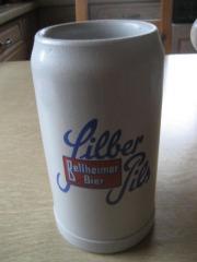 Bierkrug 1 Liter Silber Pils